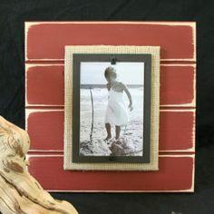 Distressed Wood Beach Frames - Large Single (10 Colors): Beach Decor, Coastal Home Decor, Nautical Decor, Tropical Island Decor