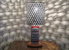 Vintage Beer Can Lamp With Pull Tab Lampshade