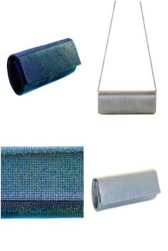 Fully Aurora Borealis Stone Baguette with Chain Strap Evening Clutch Bag