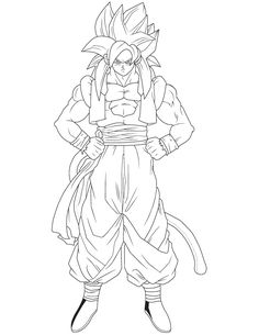 Dragon Ball Z Gogeta Coloring Pages