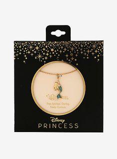 Disney Princess Jewelry, Little Disney Princess, Disney Jewelry, Colar Disney, Disney Necklace, Snowflake Jewelry, Skull Fashion, Emo Fashion, Mermaid Diy