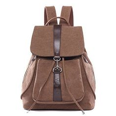30.58$  Buy now - http://vipkh.justgood.pw/vig/item.php?t=tezq7ha41435 - Canvas Backpack for Girls/Women(Brown)