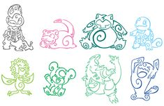 Pokemon Tattoo Pack 3 by ~Aerpenium on deviantART