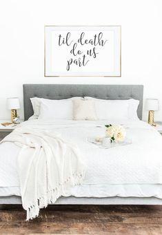 Til Death Do Us Part Printable, 24x36 Printable Poster, Home Decor, Wall Art… #weddingideas