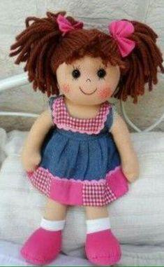 DIY doll pattern - 14 inch cloth rag doll sewing - Tasha PDF pattern - make your own doll Sock Dolls, Felt Dolls, Crochet Dolls, Baby Dolls, Diy Rag Dolls, Sewing Dolls, Diy Doll, Homemade Dolls, Doll Tutorial