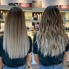 [New] The 10 Best Hairstyle Ideas Today (with Pictures) - INDECISION ALLERT! So as a lot of you said how the blend always looks good on wavy hair I decide to show you the straight result . Brown To Blonde Ombre Hair, Blonde Hair Looks, Brown Hair Balayage, Hair Color Balayage, Brunette Hair, Wavy Hair, Dyed Hair, Balayage Ombré, Balayage Brunette