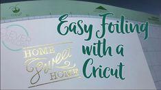 How to easily create beautiful foiled writing with a Cricut Explore, Explore Air, Explore One or Cricut Maker (IMPORTANT UPDATE: My Explore Air 2 pressure is. How To Use Cricut, Cricut Help, Cricut Air, Cricut Stencils, Cricut Vinyl, Cricut Invitations, Invites, Cricut Cuttlebug, Cricut Cards