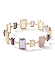 Y34SH Ippolita Rock Candy Gelato 18k Multi-Stone Bangle, Purple