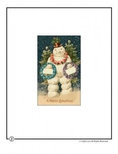 printable vintage Christmas cards.  Also links to other vintage printables.