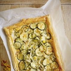 Courgette and fennel tart. For the full recipe, click the picture or ...