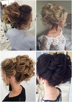 Stunning Wedding Hairstyles from - Forevermorebling Hairdo Wedding, Wedding Blog, Wedding Hairstyles, Wedding Day, Loose Buns, Bridal Hair Inspiration, Vetement Fashion, Latest Hairstyles, Style Hairstyle