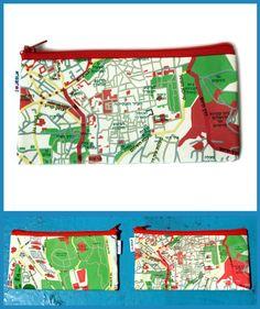 JERUSALEM MAP wallet / pencil pouch by efratul on Etsy