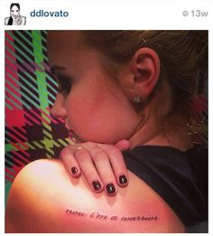 Demi Lovato's tattoo. :) Sidenote: This one looks extra painful. Eeek!