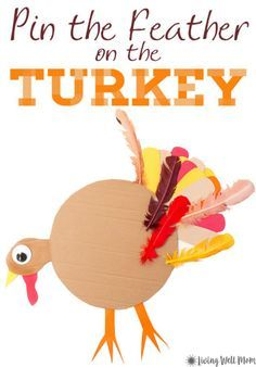 Thanksgiving games thankful Heres fun twist on a classic party game - the whole family will love this Thanksgiving version - Pin the Tail Feather on the Turkey! Thanksgiving Birthday Parties, Thanksgiving Games For Kids, Holiday Games, Holiday Activities, Thanksgiving Crafts, Holiday Crafts, Holiday Fun, Fall Games, Happy Thanksgiving