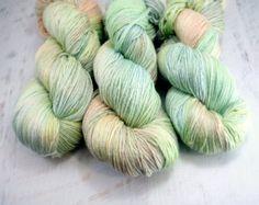 hand dyed yarn, hand painted yarn, handdyed yarn, handpainted yarn, silk yarn, sock weight