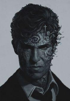True Detective poster by Yuri Shwedoff, via Behance #true #detective #portrait #art #drawing