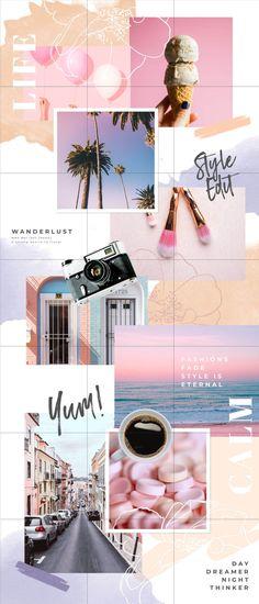 Graphic design, without the designer Instagram Feed Layout, Feeds Instagram, Instagram Schedule, Instagram Grid, Story Instagram, Instagram Design, Instagram Posts, Instagram Mosaic, Grid Design