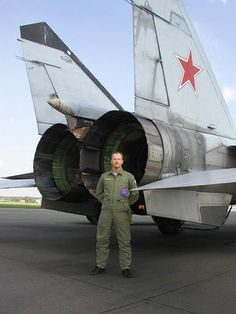 The Mig-25 has some huge engines.