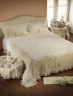 Comforters, Anna, Shabby, Curtains, Blanket, Bedroom, Home, Beds, Needlepoint