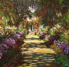 Pathway in Monet s Garden at Giverny Claude Monet art for sale at Toperfect gallery. Buy the Pathway in Monet s Garden at Giverny Claude Monet oil painting in Factory Price. Monet Paintings, Landscape Paintings, Flower Paintings, Colorful Paintings, Canvas Paintings, Landscape Pictures, Landscape Art, Landscape Architecture, Monet Garden Giverny