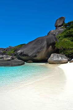 SIMILAN ISLANDS, THAILAND - Sail Rock on Island No. 8, a great day trip from Phuket or Khao Lak  and the views from the top are well worth the climb up!