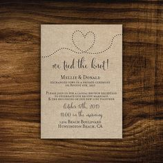 Printable elopement reception invitation - wedding reception - we tied the knot we got hitched we eloped elopement announcement Wedding Ceremony Script, Wedding Reception Invitations, Wedding Reception Food, Wedding Invitation Wording, Post Wedding, Wedding Day, Party Invitations, Trendy Wedding, Dream Wedding