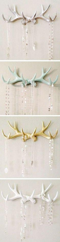Hand Painted Faux Deer Antler Racks - I have plenty of real sheds to do this with and keep in their natural color.
