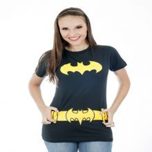 Blusinha Batgirl - Long Baby Look