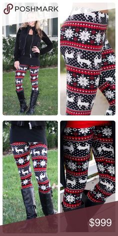 Jingle Leggings Awesome holiday leggings! Soft and the colors are so pretty! Perfect for the season! Pants Leggings