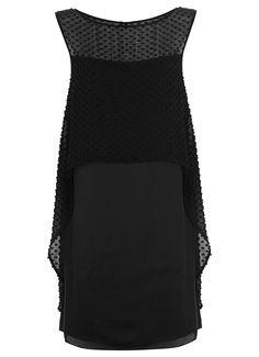 Black Dobby Cape Dress