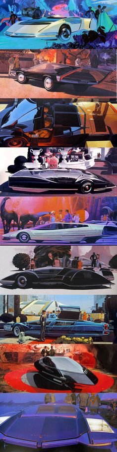 Syd Mead concept art / USA / retro futurism / seventies-eighties