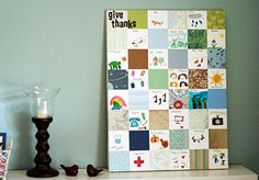Give thanks.....a paper quilt ( I would use different colors, but love the idea!)