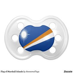 Flag of Marshall Islands Baby Pacifier