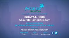 Accurate Home Care - www.Around-Town.TV   Hey all you graduates out there … the next featured business does accept/hire/train graduates. Even better they have sign on bonuses right now and ongoing employee development programs to achieve all of your career goals. Proud to feature a company with integrity, flexibility, educational and career advancement. Home care is the future of health care- cost effective and where people want to be … Accurate Home care is the next featured business.