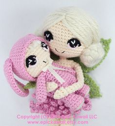 14.31 $ pour les 2 PATTERN 2-PACK: Chrysanna and Lilanna Fairy Crochet par epickawaii sur ETSY