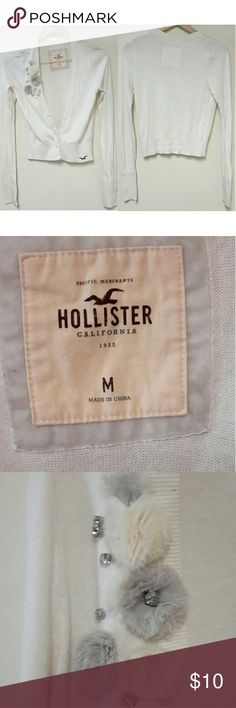 Hollister White Cardigan Long sleeve Cardigan. Size is Medium. Fast Shipping! Hollister Sweaters Cardigans