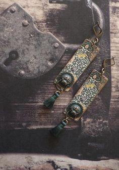 Boucles d'oreilles tribales Chinoises - boucles d'oreilles asiatiques de style vintage - Asian dream : Boucles d'oreille par fujigirls
