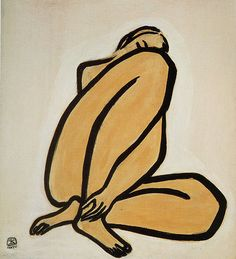 So Chinese and yet so French. Sanyu blazed a trail for Chinese artists with paintings like this one painted in Paris in the 1950s. ladfish.com