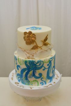 Birthday Cakes - Butterceam finish wafer paper and fondant accents