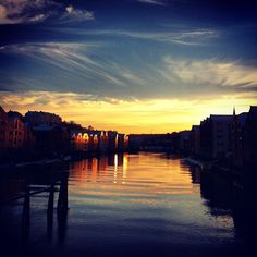 Sunset in Trondheim - Instagram photo by @silovise #trondheim #travel #norway