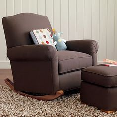 Gliding armchair: My favorite nursery component...aside from the baby of course ;)