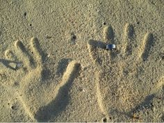 Sand hands with rings
