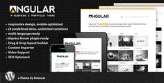 Buy Angular - Responsive Portfolio by Kriesi on ThemeForest. Version out now – check bottom of the page for changelog Angular is a responsive WordPress Theme (try resizing y. Portfolio Site, Portfolio Layout, Creative Portfolio, Theme Forest, Iphone Logo, Website Themes, Wordpress Template, Best Wordpress Themes