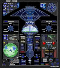 SS. ENTERPRISE http://www.pinterest.com/starfleetintel/lcars-diagrams-star-trek/