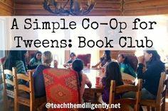NextGen Homeschool / Simple Homeschool Co-Op for Tweens: Book Clubs