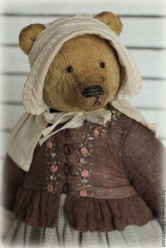 Купить Гордей и Матрёна в повторе - коричневый, тедди мишка, тедди, тедди медведи, мишка в одежде