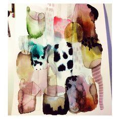 Akvarell Emma Larsson @zebrakadebra