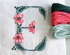 DIY pdf Crewel Embroidery Pattern Monogram J is by PrairieGarden