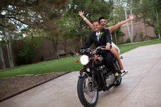 HOW FUN! Motorcycle Wedding photo!