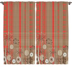 Floral Curtains Digital Print Art Work for Bedroom and Living Dining Room Decorations for Bedroom Curtains 2 Panels Home Decor Accent Set Silky Satin Window Treatment (Orange Beige, 108 Wx90 L) ** You can get more details by clicking on the image. (This is an affiliate link) #WindowTreatments